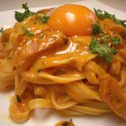 『カルボナーラ チリトマト風味』洋麺屋五右衛門人気メニューをおウチで