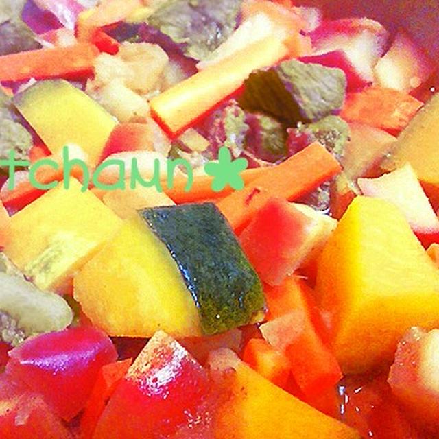 カレー風味のリンゴのビーフシチュー