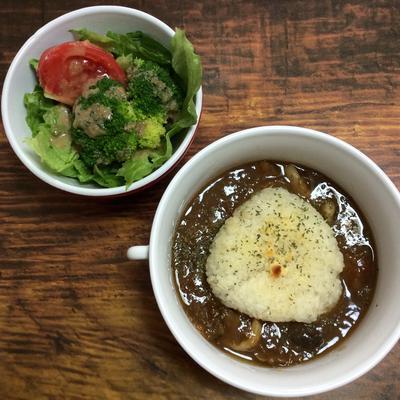 【簡単レシピ】あめ色玉ねぎと牛肉のオニオングラタン風スープごはん♪ #ホムパリ