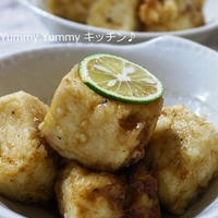 すだちポン酢ダレの揚げ出し豆腐風♪&お花ありがとう^^