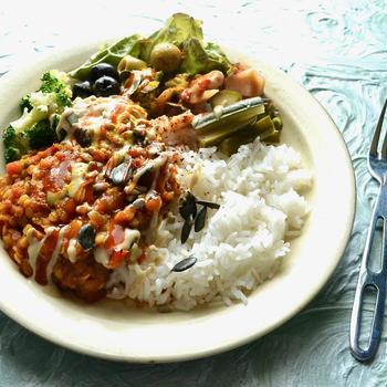 6/4 ダイエットごはん。【レンズ豆のスパイスカレー。】