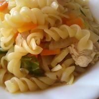 野菜と鶏のうまみマカロニクルルヌードル 伯方の塩・焼塩