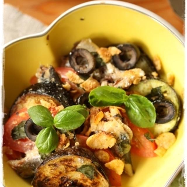 オイルサーディンと夏野菜のオーブン焼き