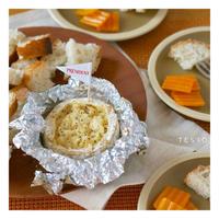 【レシピ】プチ・カマンベールチーズのホイル焼きフォンデュ♪