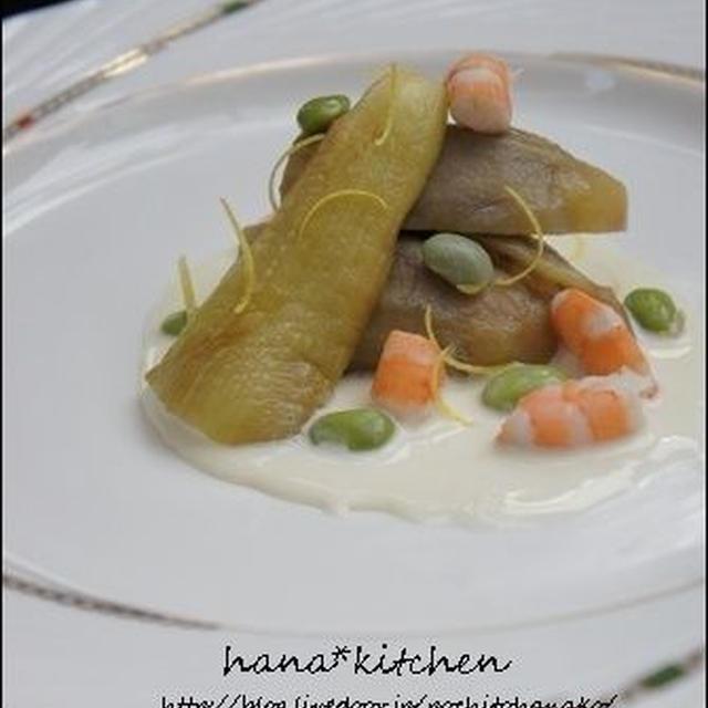 【夏野菜レシピ】茄子のレモン蜂蜜マリネ&真っ白なソース