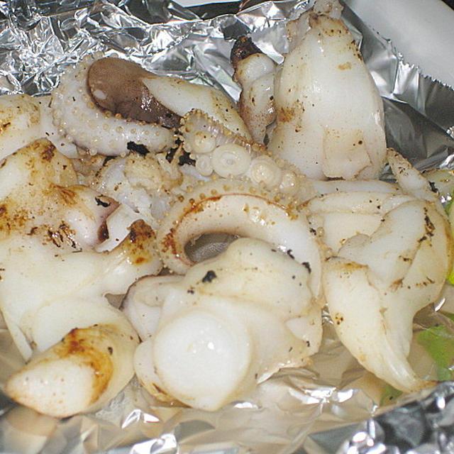 モンゴウイカのゲソ塩焼き
