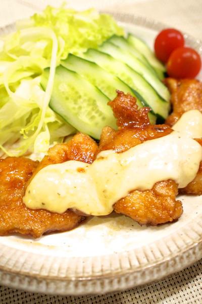 【和食】簡単!「鶏むね肉でもジューシー☆チキン南蛮」で晩ごはん。&アイスハーブティーにはまる。