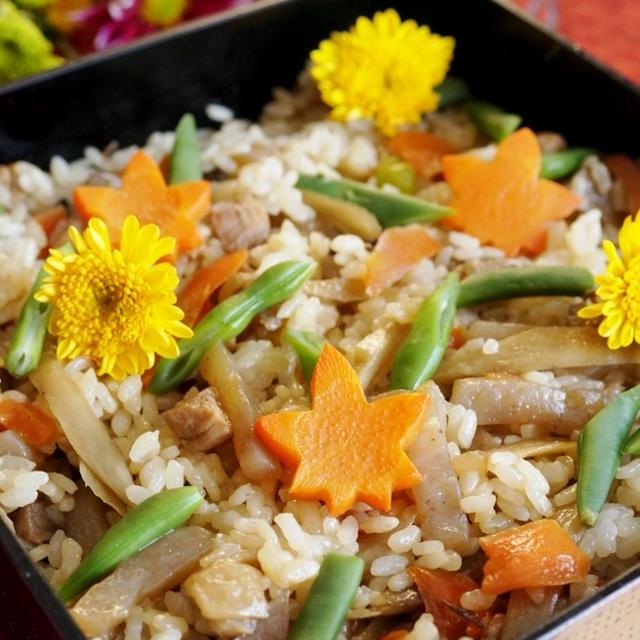 【鶏牛蒡の五目飯レシピ】我が家1番人気!!具材は後混ぜスタイルです♪