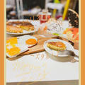 今日の朝活!簡単!ホケミでチーズタルト作り〜♪
