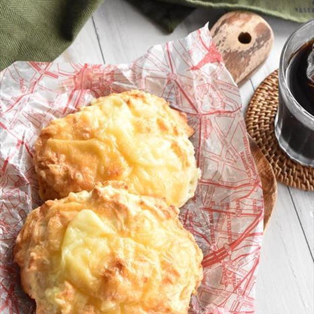 オーブントースターで簡単!ホットケーキミックスで♪発酵不要のダブルチーズブレッド