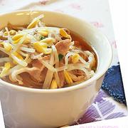 たっぷり豆もやしで糖質カット煮麺