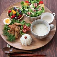 ハーブ&ソルト唐揚げ ✿ 肉じゃが定食(๑¯﹃¯๑)♪