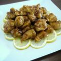 鶏むね肉のレモンバター醤油ソース♪