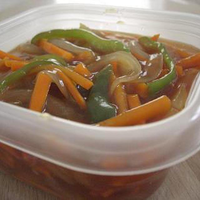 【おかずの素】野菜の甘酢あん