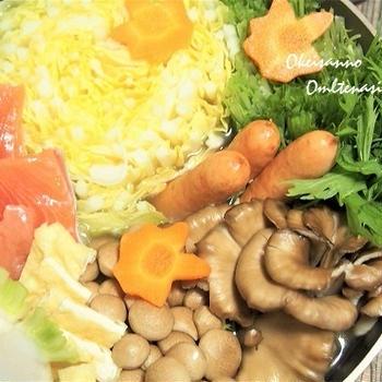 創味シャンタン×豆乳で簡単美味しい中華鍋  秋鮭ときのこの秋鍋です!  &ハロウィンカレー