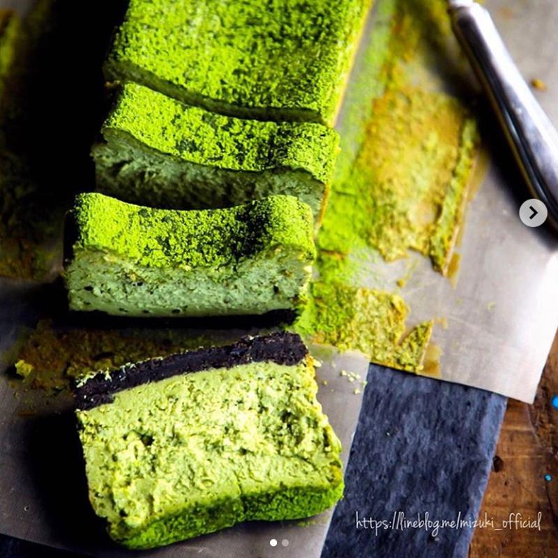 【レシピ付き】おいしくてかわいい♪「#抹茶チーズケーキ」
