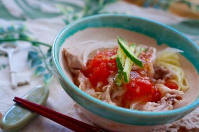 (トマト万能ソースパート2)トマトソースで頂く冷しゃぶミニ冷麺