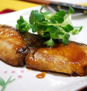 ブリの柚子胡椒照り焼き