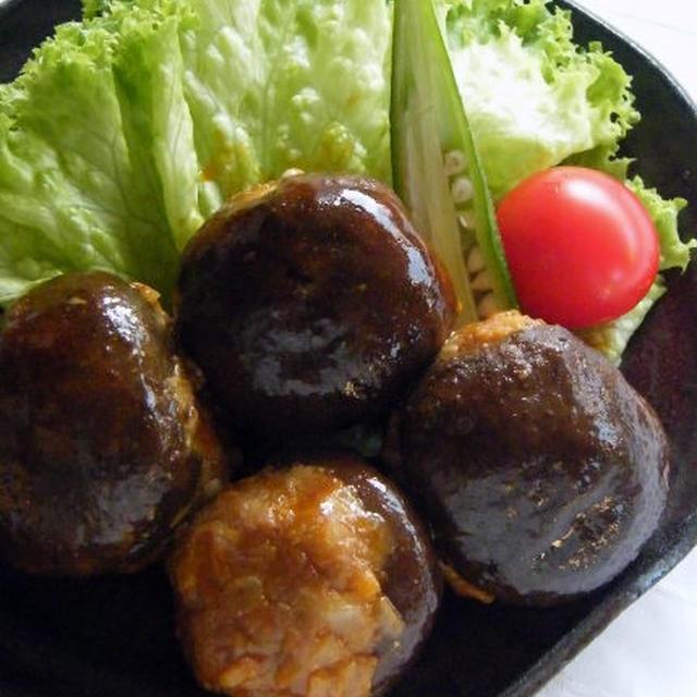 椎茸ハンバーグのデミグラスソース煮込み、とお弁当