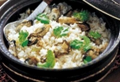 今宵の肴 @ カキ(牡蠣)の炊き込みご飯