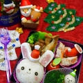 【キャラ弁】クリスマス☆うさぎサンタのおにぎり弁当~♪ by とまとママさん