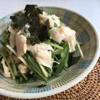 【春ごはん】副菜やお酒のお供に♫鶏胸肉と三つ葉のわさび風味