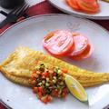 夏野菜でおいしさUP!ヒラメのカレームニエル
