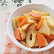 汁が出ない和風お弁当おかず「ちくわと根菜の和風カレー炒め」