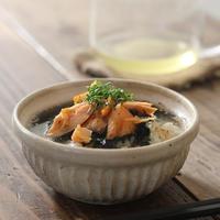 ■あご煮干しの削り節で、塩鮭のあごだし茶漬け♪