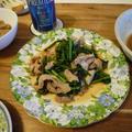 菜花と豚肉の中華炒め