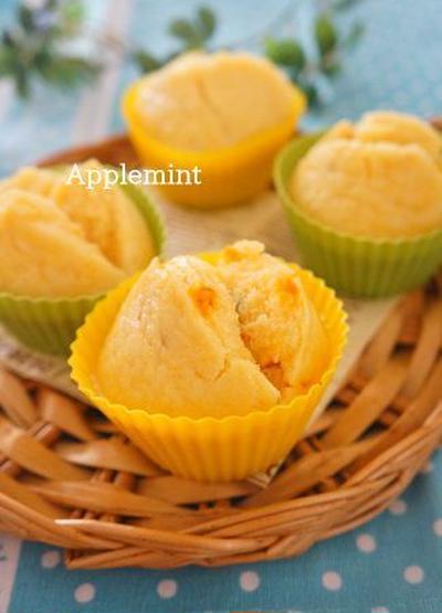 【卵、小麦粉、牛乳不使用】米粉ミズホチカラで煮物リメイクかぼちゃ蒸しパン