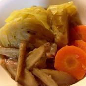 ベーコンと根菜、キャベツ煮