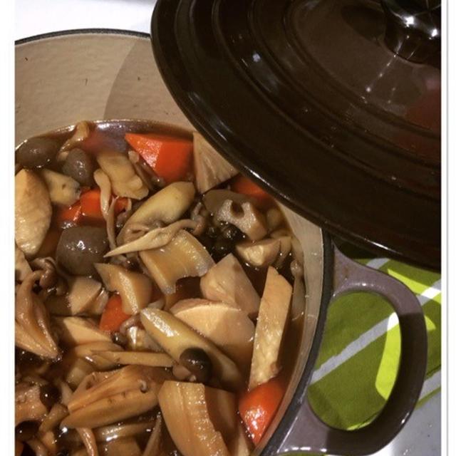 ルクルーゼで大量の野菜の煮物