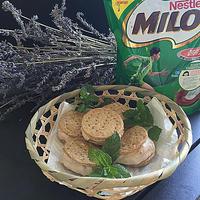 タルト生地を使ってミロで作るミロアイスクリームサンド~♪♪