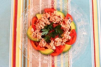 アボカドとトマトの前菜