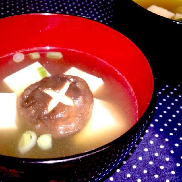 【レシピ】高野豆腐と飾り椎茸のすまし汁(^^♪