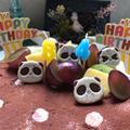 水玉とパンダの誕生日ケーキ