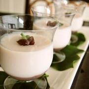 豆乳×ゆであずきで作るほっこり優しい味のおやつ