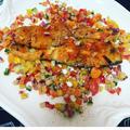 鮭のスパイシーグリル〜カラフル野菜ソース