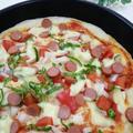 《レシピ有》フライパンで☆トマト&ピーマンのピザ、シュークリーム♡。