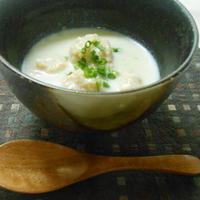 鶏団子と豆乳の食べるスープ☆