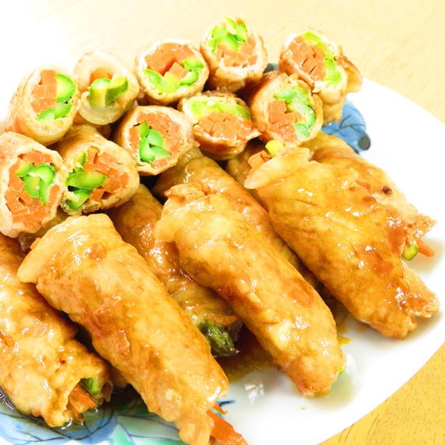 絶品☆豚肉の甘辛野菜巻き☆お弁当にも♪