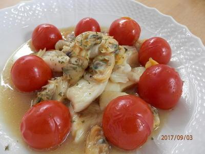 レシピ掲載ありがとうございます♪旨味たっぷり☆白身魚のアクアパッツァ
