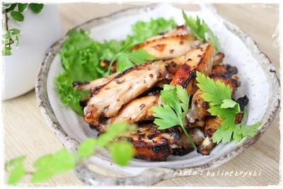 ちょい足しで栄養満点!レーズンペースト入りの絶品簡単手羽中の甘辛グリル焼き
