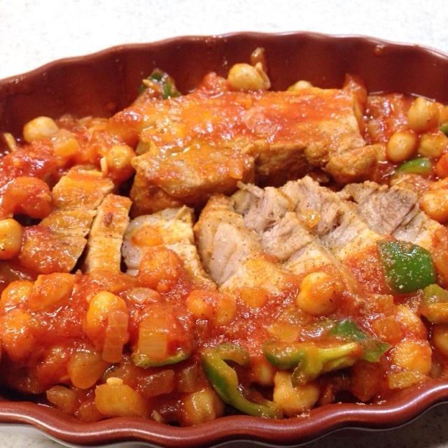 プロ直伝!豚バラとお豆のトマト煮