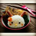キャラ弁〜うさぎさん〜さんばんの遠足のお弁当