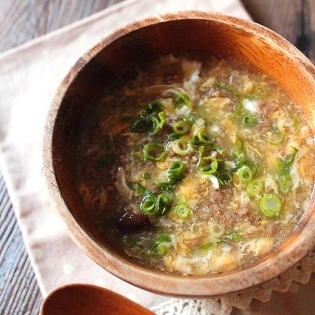 サンラータン風とろとろ卵スープ*と、プレミアムモルツのお話