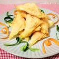 パリパリなのにホクホク♪鮭フレークとじゃが芋の揚げワンタン