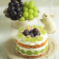 * 福島県産シャインマスカット&巨峰のケーキ♪