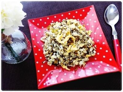 青空レストランで紹介のレシピ★辛子高菜チャーハンを作ってみました